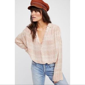 Free People Fearless Love Plaid Top Size X-Small